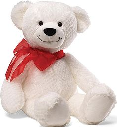 Large Serendipity White Gund Teddy Bear