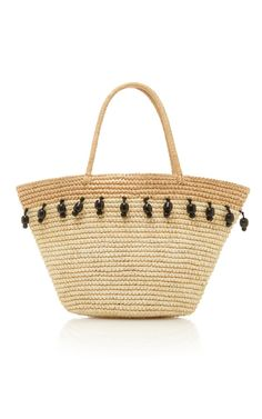 woven bag with shell band