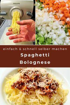 Mit dem Pasta-Maker kann man im Handumdrehen Teigwaren frisch selber machen. Hausgemachte Spaghetti, Tagliatelle oder Penne schmecken himmlisch. Zum Beispiel mit einem feinen Ragu alla bolognese, also mit Sauce Bolognese. #Pasta #hausgemacht #bolognese #LaCucinaAngelone #DieAngelones Maker, Foodblogger, Penne, Vegetables, Happy, Italian Pasta, Swiss Guard, Home Made, Fresh