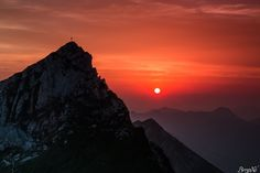 Sonnenuntergang im Rofangebirge