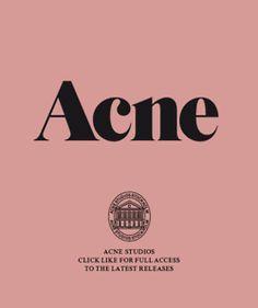 Fashion Logo Branding Acne Studios Ideas For 2019 Logos, Typography Logo, Typography Design, Logo Branding, Branding Design, Fashion Logo Design, Fashion Branding, Logo Inspiration, Ästhetisches Design