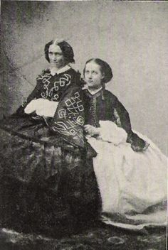 Alexandra with her mother Louise