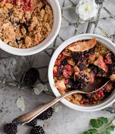 A modern twist on a traditional pud, these Mini Blackberry and Apple Crumbles are the ultimate comfort food.