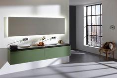 Primabad badkamermeubel Original Maatwerk in de nieuwe kleur Forest Green