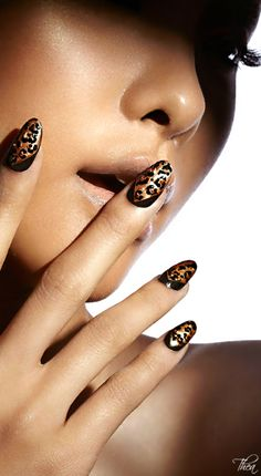 Safari Chic #mani #manicure #nails #nailart #leopard