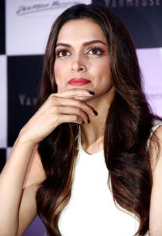 Gorgeous Deepika Padukone looks radiant in white at a Van Heusen event. #Style #Bollywood #Fashion #Beauty