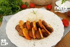 Fırında Pratik Köfte Patates Tarifi Iftar, Carrots, Salsa, Grains, Rice, Meat, Chicken, Vegetables, Food