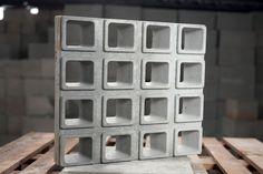 Cobogó de Concreto Quadrado 16F | Ciment'aço Pré-moldados