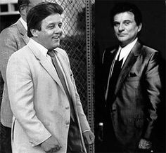 Anthony Spilotro (left) and Joe Pesci (right)