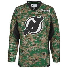 Mens New Jersey Devils Reebok Digital Camo Veteran s Day Practice Jersey 18e030a45