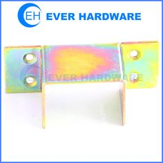 Furniture mounting bracket heavy duty U shaped sheet metal cabinet supporting