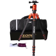 163.09$  Watch now - http://alihaq.worldwells.pw/go.php?t=32549787599 - F16302 ZOMEI Z-888C Professional Portable cabon Fiber & Alloy Compact DSLR Camera Travel Tripod Monopod ballHead & Carrying Bag