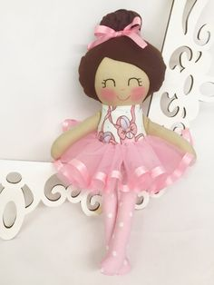 Cloth Doll Ballerina Girl Gift Handmade baby by SewManyPretties