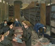 Women's Auxiliary Air Force Store by Evelyn Mary Dunbar