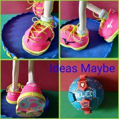Zapatillas y balón de balonmano