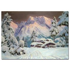 "Trademark Fine Art 16x24 inches ""Hocheisgruppe Austria"" by Alwin Arnegger"