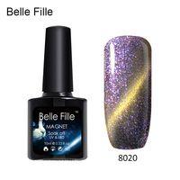 Belle Fille UV Gel Cat EYE Chameleon Nail Gel Phantom Varnish Long Lasting Soak off Nail Gel Polish Color Need Magnet 10ml