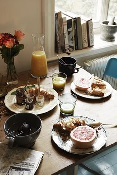 What a lovely breakfast table! Seriously my most favorite meal of the day! :-)