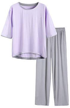 Latuza Womens Bamboo Viscose Pajamas Top Long Sleeves Sleep Shirt