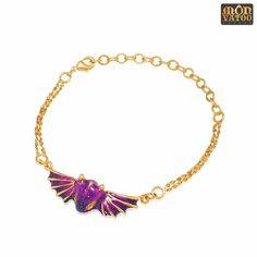 Gold Amethyst Dragon Bracelet #VioletDragon #DragonJewelry #GoldDragonBracelet #WingJewellery #DragonCharm #WingBracelet #DragonBracelet #PurpleDragonCharm #WingJewelry #GoldDragonJewelry #dragon #PurpleDragon #DragonJewellery Dragon Bracelet, Dragon Ring, Gold Dragon, Dragon Jewelry, Amethyst Color, Amethyst Gemstone, Ring Necklace, Stud Earrings, Dark Purple