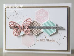 Stampin' Up! - A Little Thanks - Happy Stampin' Scrapbook Cards, Scrapbooking, Emotions Cards, Hexagon Cards, Stamping Up Cards, Butterfly Cards, Sympathy Cards, Paper Cards, Kids Cards