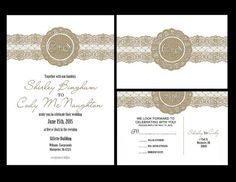 Wedding Invitations personalized wedding by HAPPYEVERAFTER54