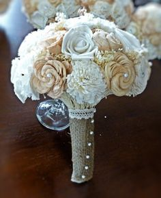 Handmade Custom Wedding Bouquet Bridal by CuriousFloralCrafts, $90.00