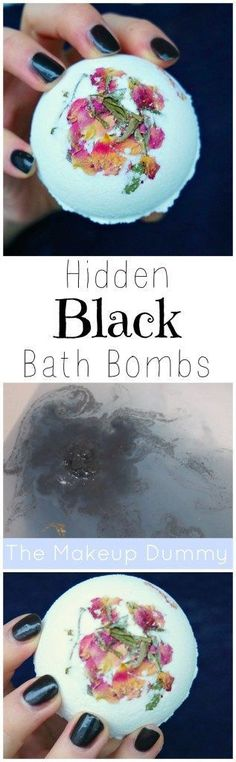 DIY Hidden Black Bath Bombs.