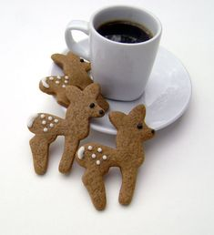 Gingerbread Deer Cookies on Etsy, $15.18 CAD