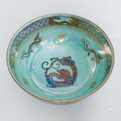 "Wedgwood Fairyland Lustre Bowl ""Celestial Dragons"" designed by Daisy Makeig-Jones -Interior"