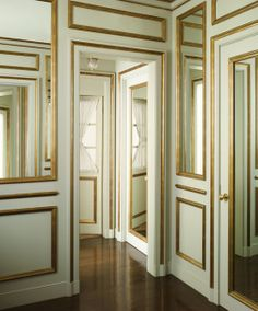white Walls with Gold Trim…So Fabulous