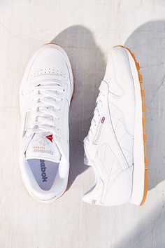 76c3a2752879 Reebok Classic White Leather Gumsole Trainers - Urban Outfitters Reebok  Classic Gum Sole