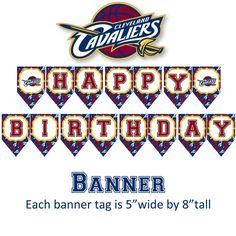 Cleveland Cavaliers basketball birthday party by DecorAtYourDoor
