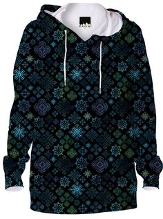 Midnight Snowflakes Hoodie from PAOM...SpiceTree @ Print All Over Me.