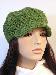 Great Green Crocheted Hat