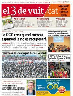 Portada d'El 3 de vuit del 22 de març del 2013 - Edició Baix Penedès