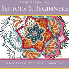 A Coloring Book for Seniors & Beginners - Volume 1 If you are after an adult colouring book that has larger spaces and less detailed images to color then this book may help you. With larger spaces to assist the visually impaired or those that do not enjoy complex images this book has been designed for you. Read my full review and enjoy the illustrations from this #coloringbook for seniors #adultcoloring #arttherapy #largespacescoloringbook #coloringbookreview #jackplaxe