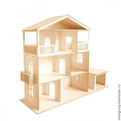 Wooden Barbie House, Barbie Doll House, Barbie Dolls, Doll House Plans, Popsicle Stick Houses, Toy Castle, Toy House, Wooden Dollhouse, Diy Dollhouse