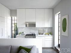 New York City White Kitchen - ELLEDecor.com