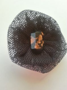 Black and Gold Lace Lapel Flower/Lapel Pin Lg