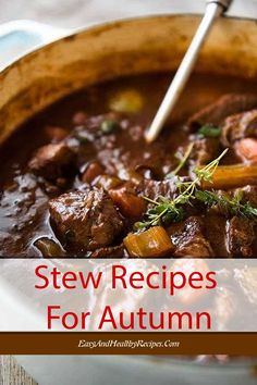 30 Top-Rated Stew Recipes In The World That You Should Not Miss On The Autumn Chill – Page 2 – Yummy – Best Ideas for Dinner Top Recipes, Fall Recipes, Crockpot Recipes, Cooking Recipes, Slow Cooker Beef, Quick Meals, Soups And Stews, Top Rated, Family Meals