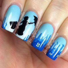 mary poppins by jamylyn_nails #nail #nails #nailart