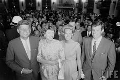 Ted & Joan with Jack and Eunice at the 1960 Democratic Convention. ❃❤☀❤❁❤✿❤❁❤☀❤❃  http://en.wikipedia.org/wiki/John_F._Kennedy    http://en.wikipedia.org/wiki/Ted_Kennedy  http://en.wikipedia.org/wiki/Eunice_Kennedy_Shriver     http://en.wikipedia.org/wiki/Joan_Bennett_Kennedy