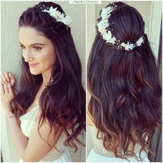 Formal Hairstyles For Long Hair, Open Hairstyles, Indian Hairstyles, Hairstyles Haircuts, Long Hair Styles, Bridal Hairstyles, Ballet Hairstyles, Engagement Hairstyles, Hairdos