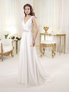 Spring 2014 Chiffon Sleeveless Wedding Dresses 2014