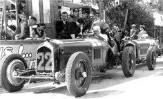 Trossi in pits during practice for Monaco GP (1934) - Alfa Romeo P3