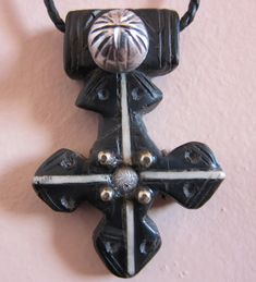 Rare Berber Cross Pendant with Silver decorations by TuaregJewelry, $118.00 https://www.facebook.com