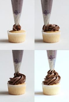 Four ways to frost a cupcake