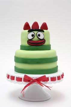 brobee cake, yo gabba gabba.....idk what the hype is about yo gabba gabba cause I've never watched it but I know some people that have kids that love this show.