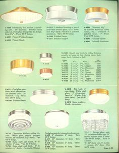 Vintage Virden lighting - 52 page catalog from 1959 - Retro Renovation Catalog Layout, 1950s Furniture, Old Lamps, Retro Renovation, Types Of Lighting, Vintage Lighting, Lamp Shades, Glass Design, House Plants